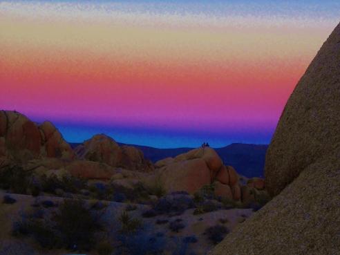 March 1, 2013. Sunset at Jumbos Rocks campground, Joshua Tree, CA.