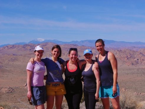 March 2, 2013. At the top of the Ryan Mountain Trail.