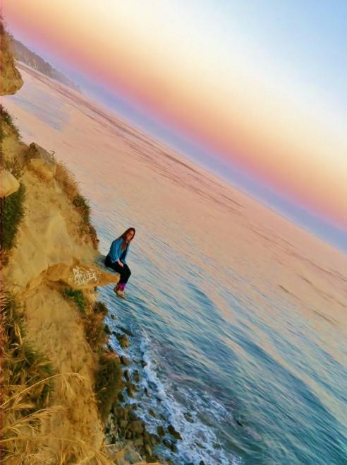 Last night's sunset at More Mesa in Santa Barbara, CA.