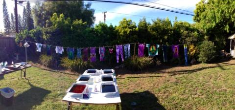 We had a tye dye party this past Saturday-- getting ready for the season of festivals-- lucidity, earth day, and solstice, we are ready for ya!