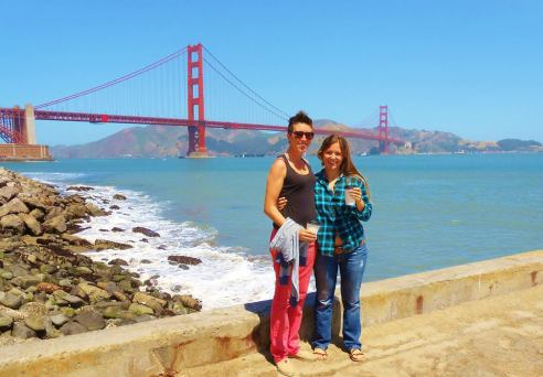 A classic and can't miss-- the Golden Gate Bridge in San Francisco!