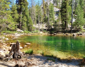 The swimming hole at Little Yosemite Valley backpackers camp