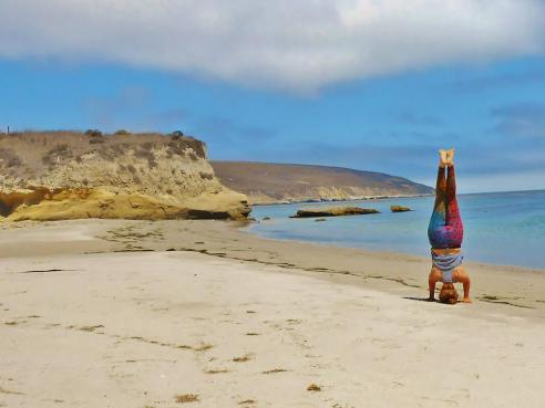 A little headstand action at Beechers Bay- Santa Rosa Island.